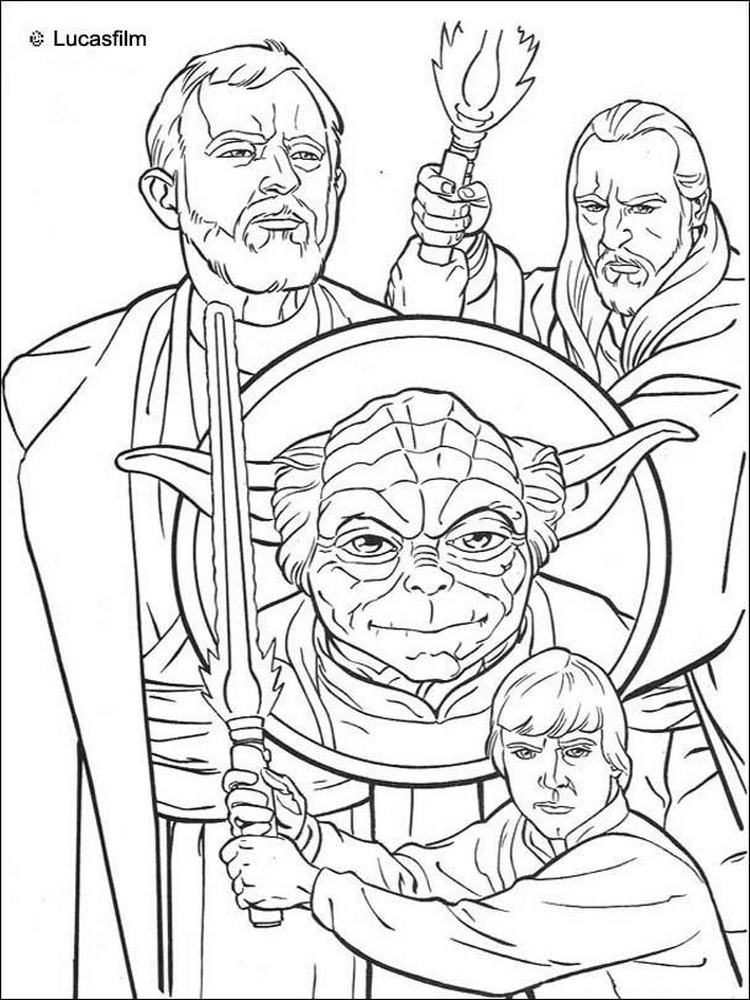 yoda coloring pages - coloriage star wars 40 modeles a imprimer