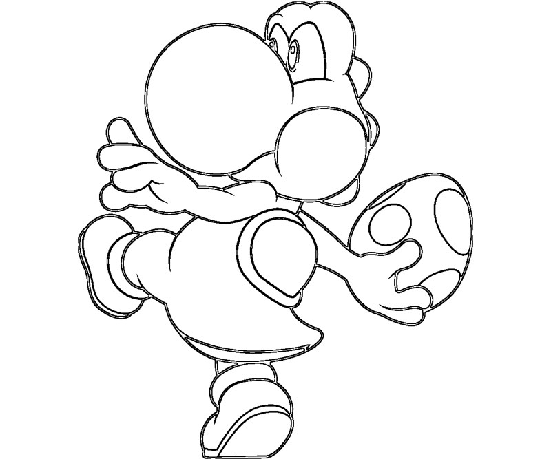 Yoshi Coloring Pages - Mario and Yoshi Coloring Pages to Print