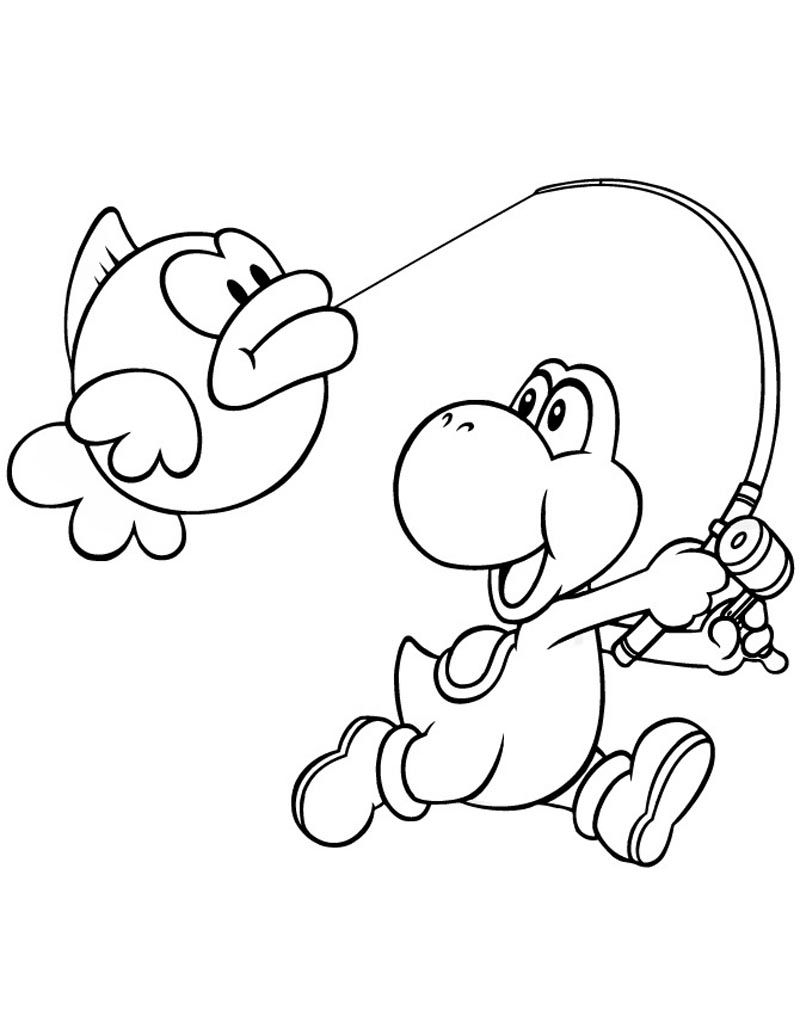 yoshi coloring pages - printable yoshi coloring pages