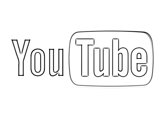 Youtube Coloring Pages - Youtube Logo Sketch Sketch Coloring Page