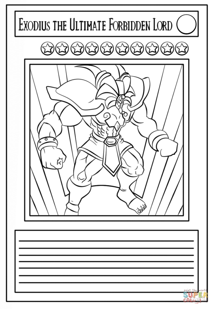 Yugioh Coloring Pages - Yu Gi Oh Card Coloring Page Free Printable Coloring Pages