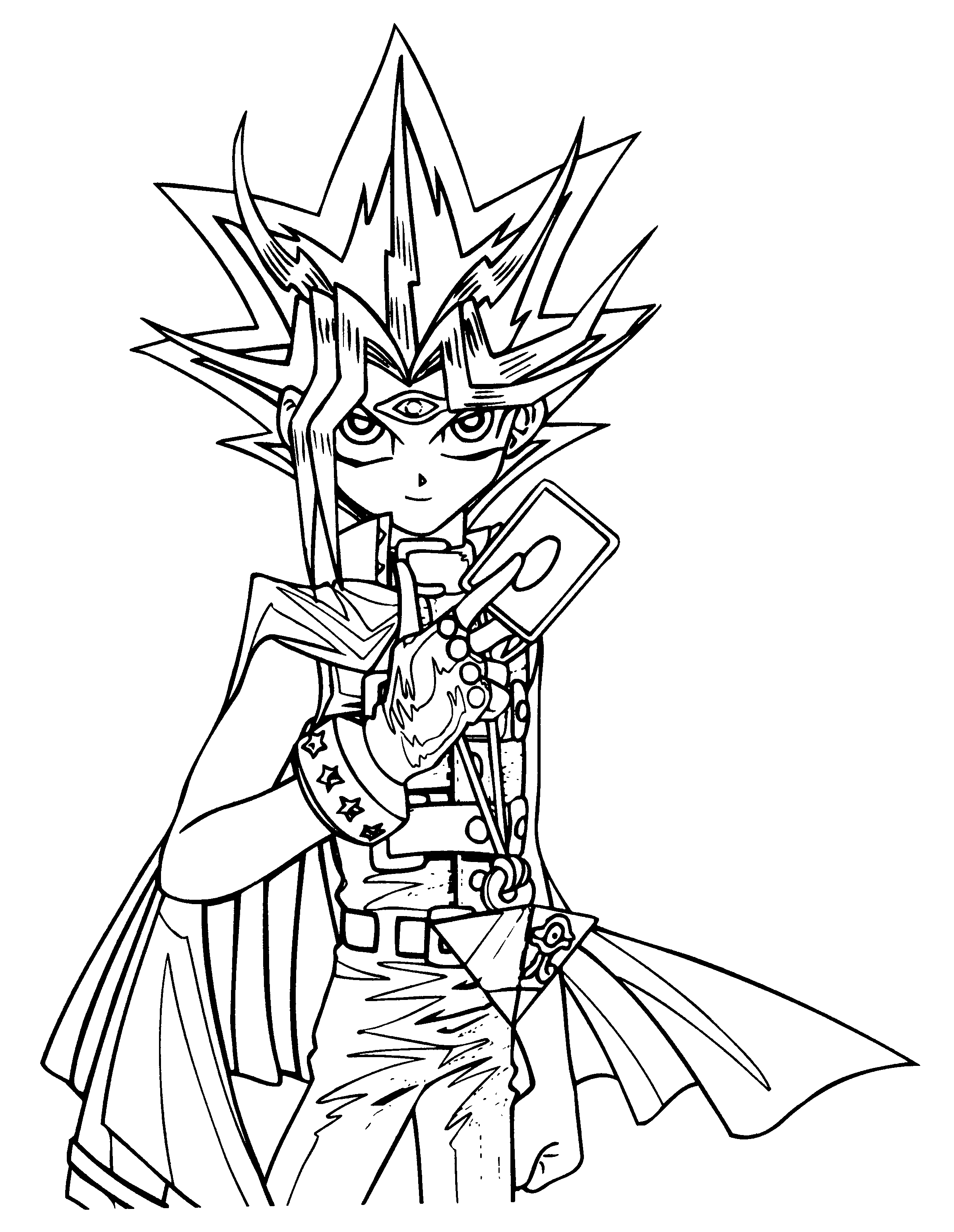 yugioh coloring pages - yu gi oh
