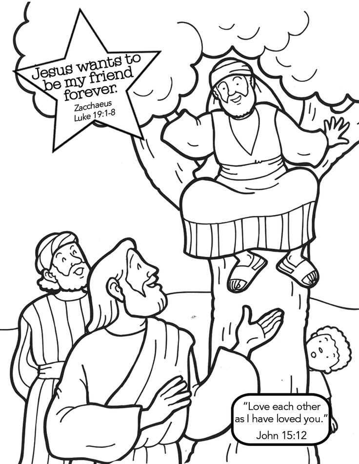 Zacchaeus Coloring Page - Free Coloring Pages Of Story Of Zacchaeus