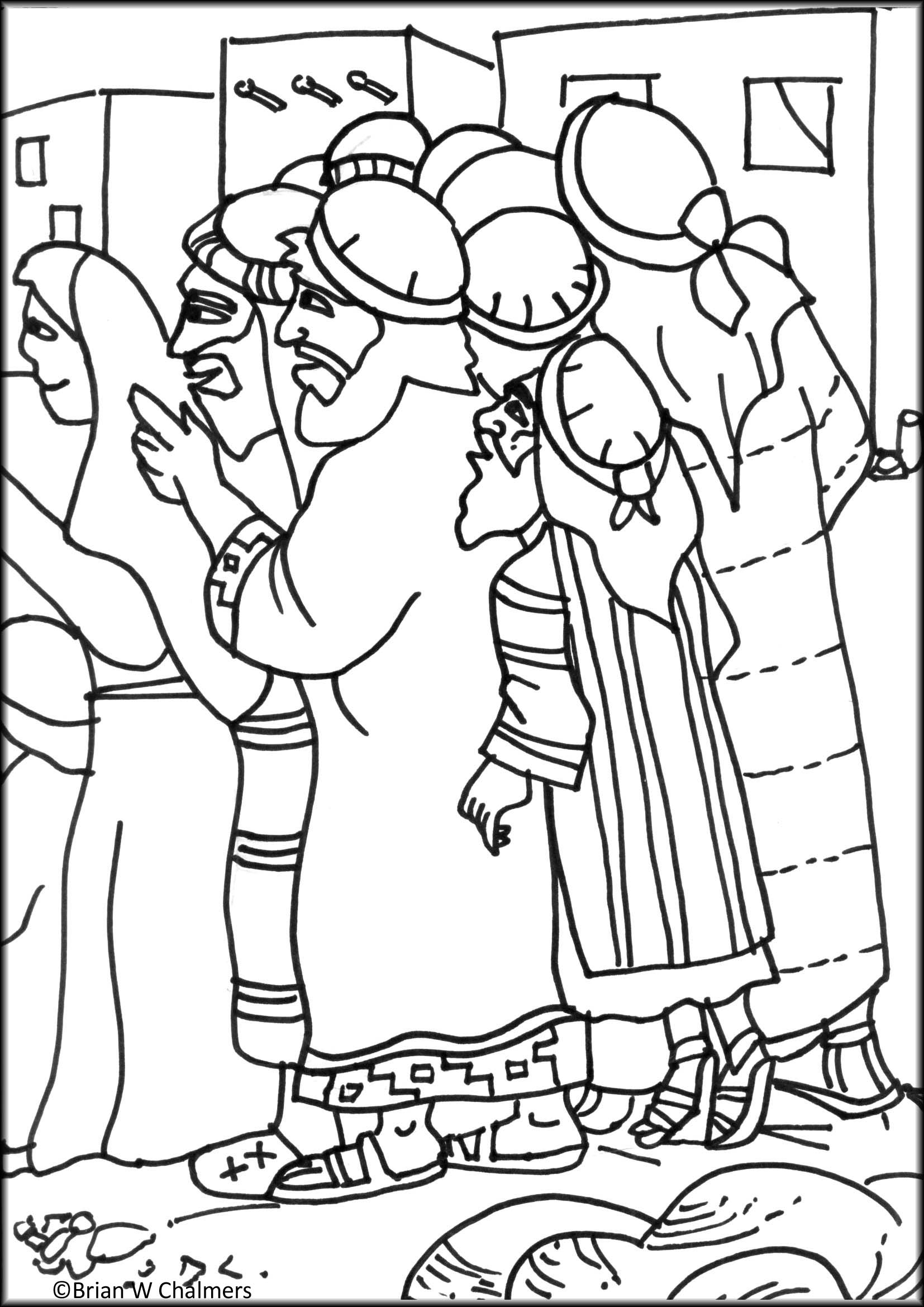 zacchaeus coloring page - honesty coloring pages free