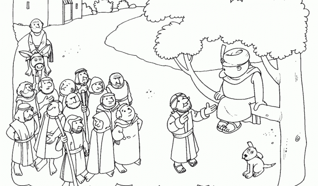 zacchaeus coloring page - free coloring jesus and zacchaeus coloring page for jesus and zacchaeus coloring page az coloring pages