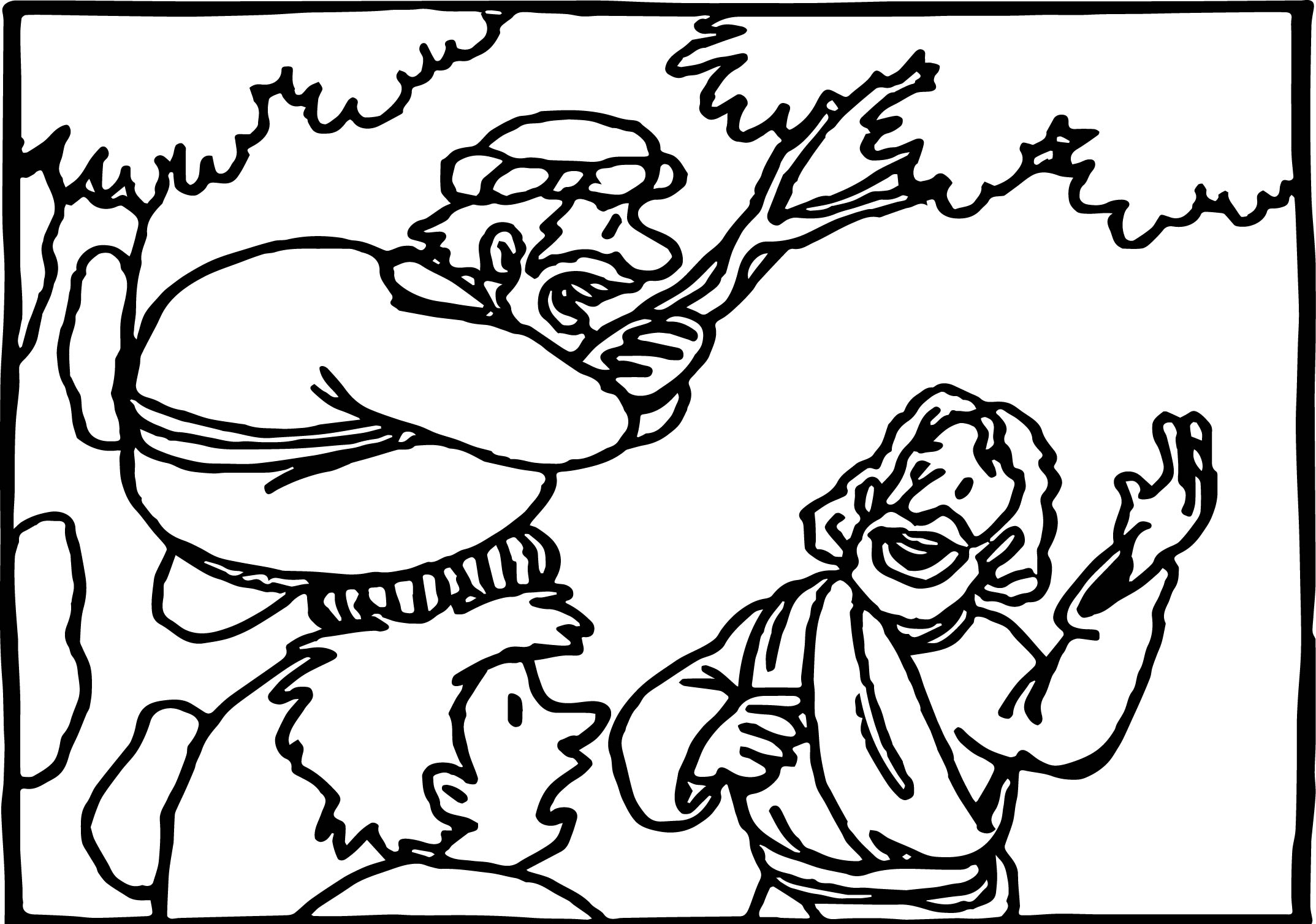 zacchaeus coloring page - zacchaeus cut out coloring sketch templates