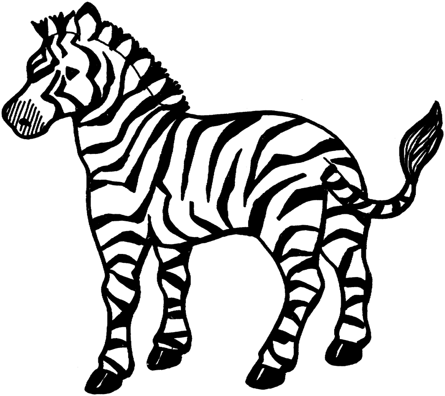Zebra Coloring Pages - Free Printable Zebra Coloring Pages for Kids