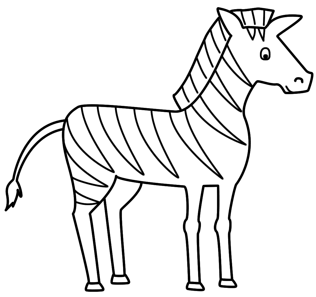 zebra coloring pages - zebra coloring page 1196