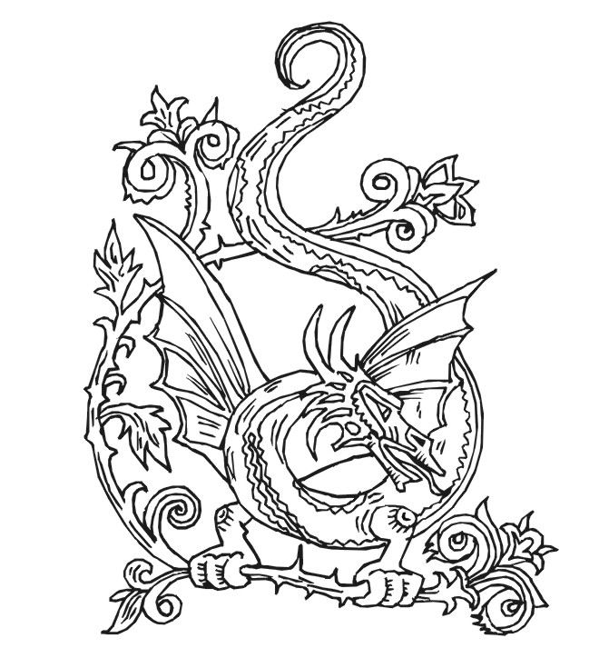 zelda coloring pages - dragon