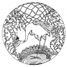 zen coloring pages - animaux