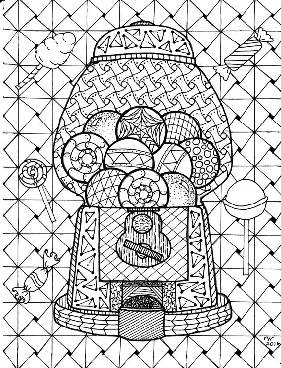 zentangle coloring pages -