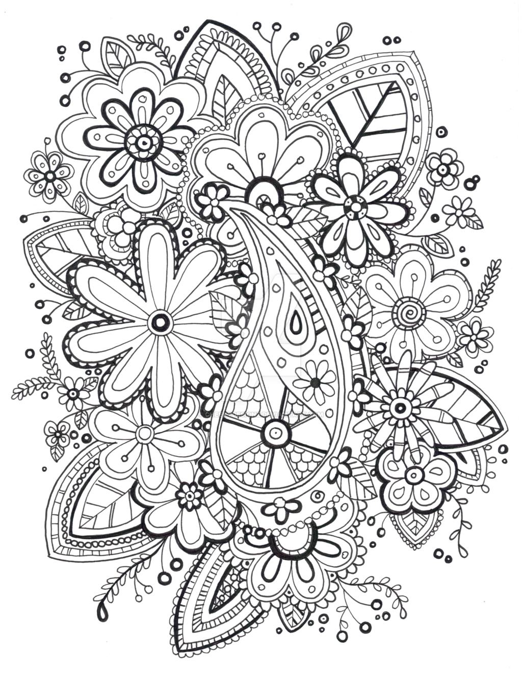 zentangle coloring pages - Zentangle Coloring Page