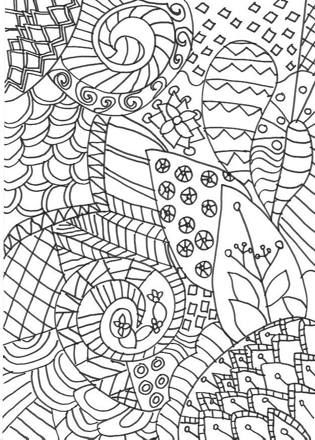 zentangle coloring pages - zentangle colouring pages