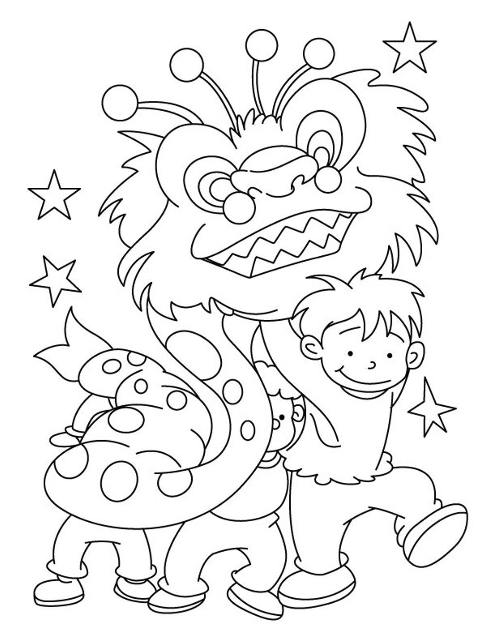 zodiac coloring pages - chinese new year colouring pictures