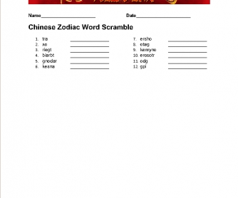 zodiac coloring pages - chinese new year worksheet