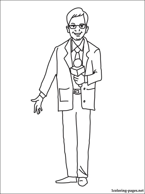 zodiac coloring pages - journalist coloring page