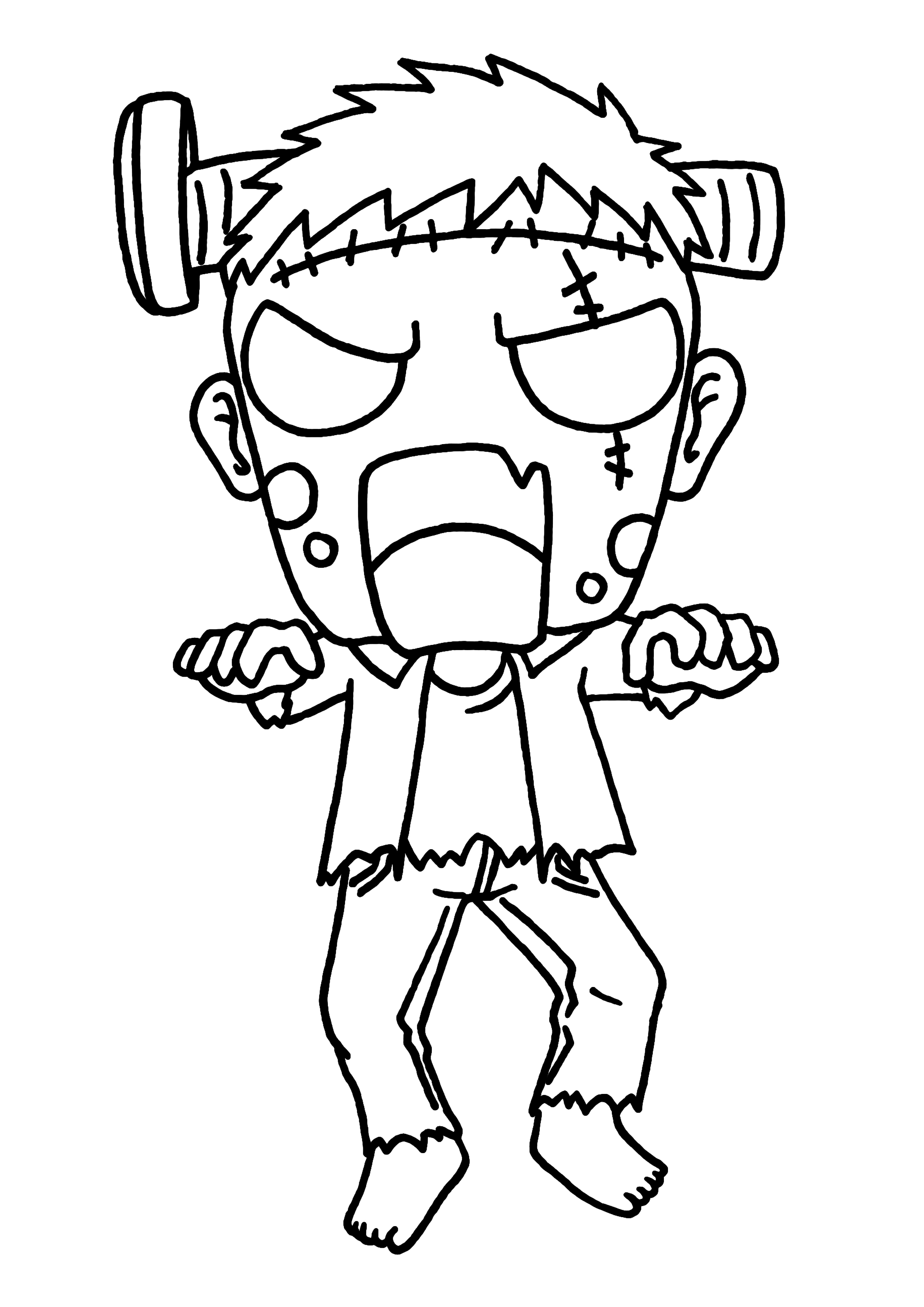 zombie coloring pages - 2