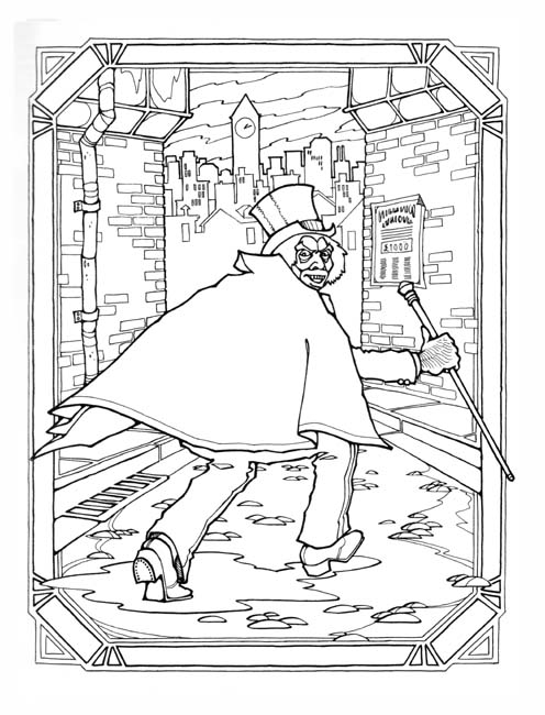 zombie coloring pages - MrHyde