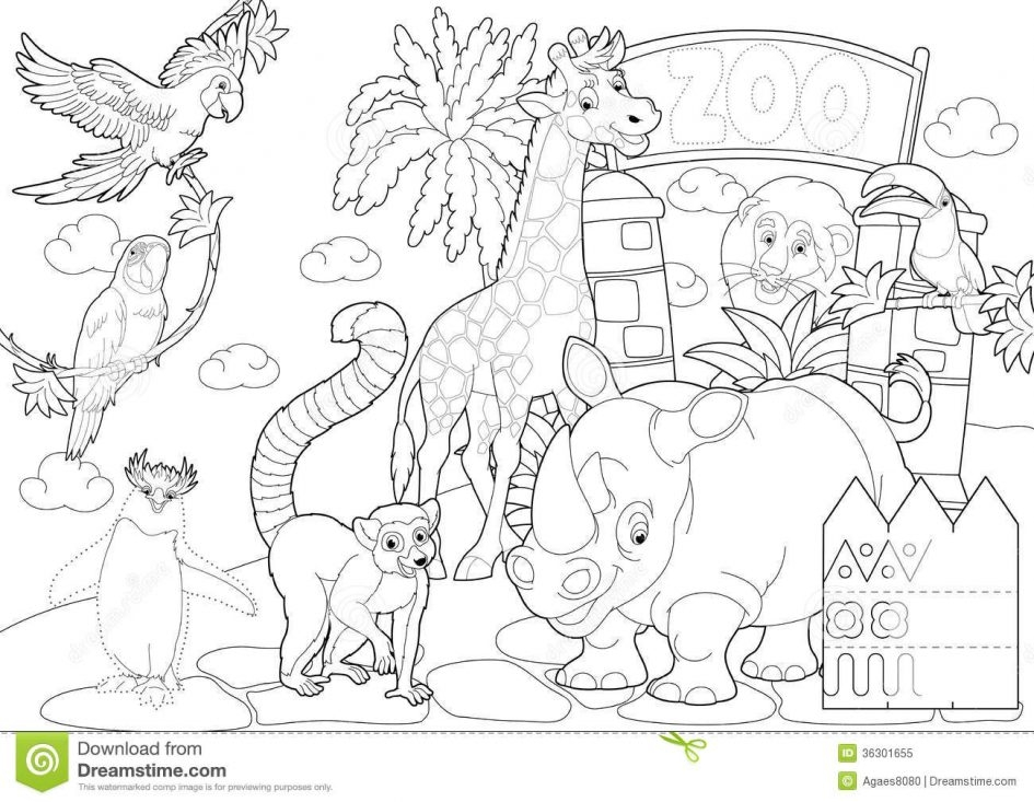 zoo coloring pages - zoo coloring page