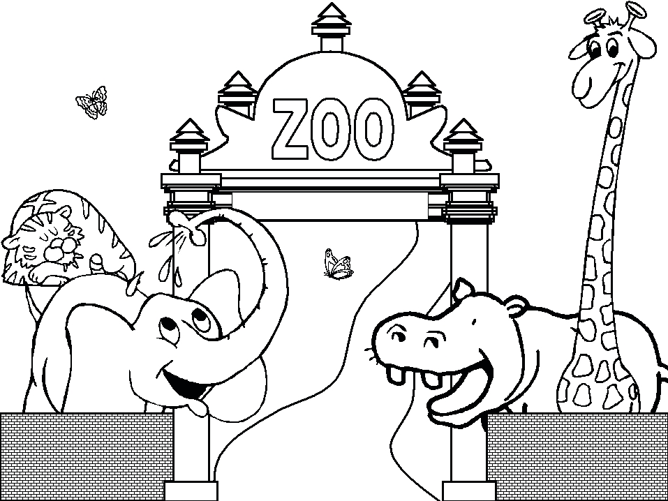 zoo coloring pages - zoo coloring pages