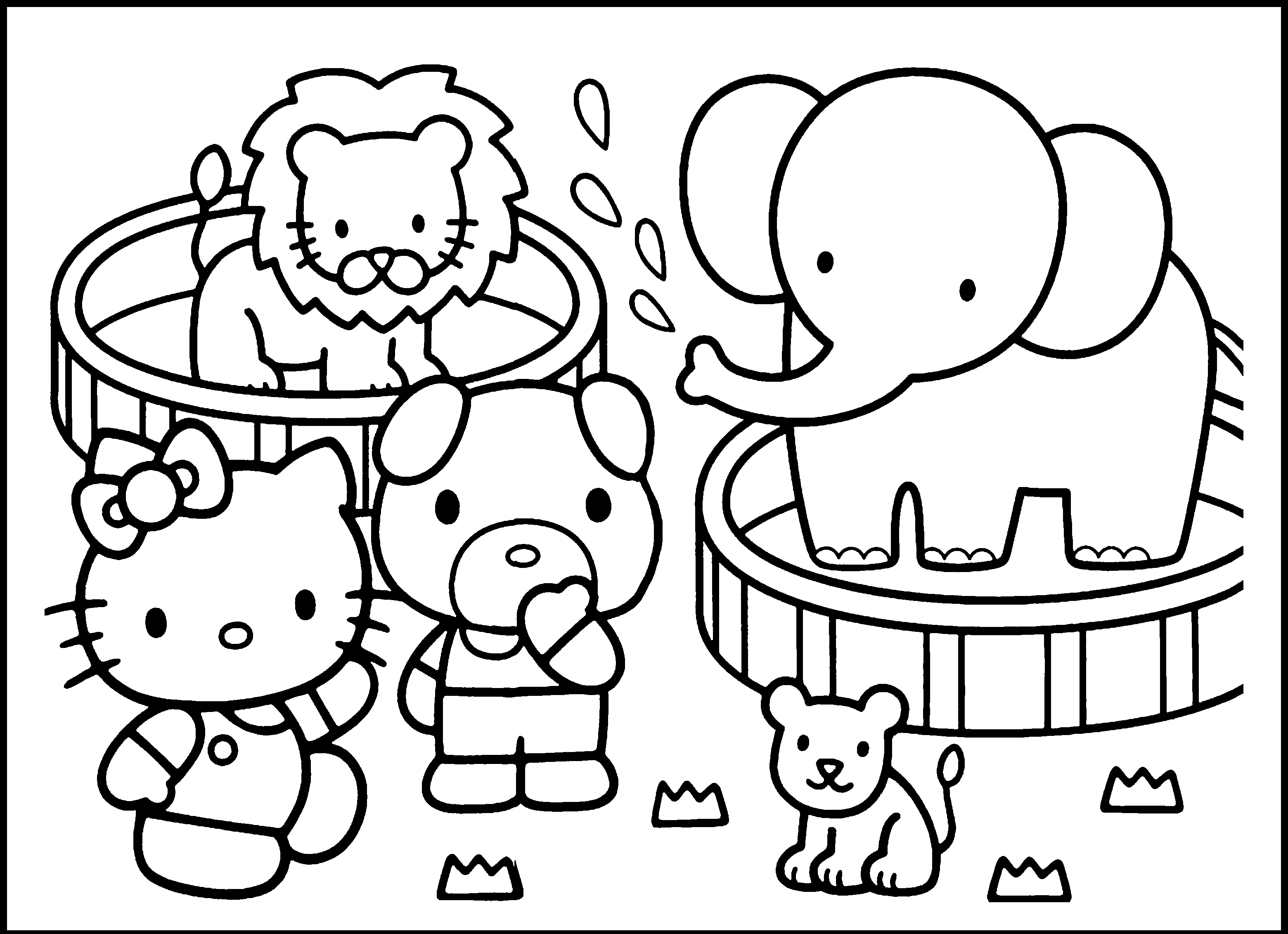 zoo coloring pages - preschool zoo coloring pages