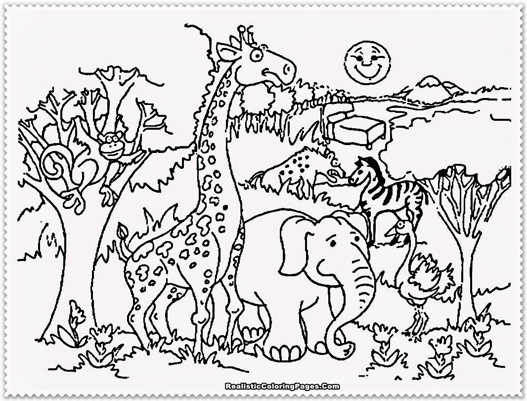 Zoo Coloring Pages - Zoo Animal Coloring Pages