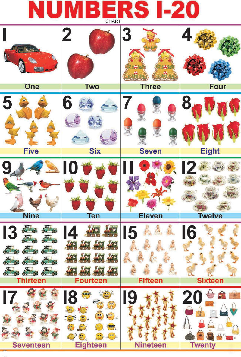 1 20 Number Chart With Pictures