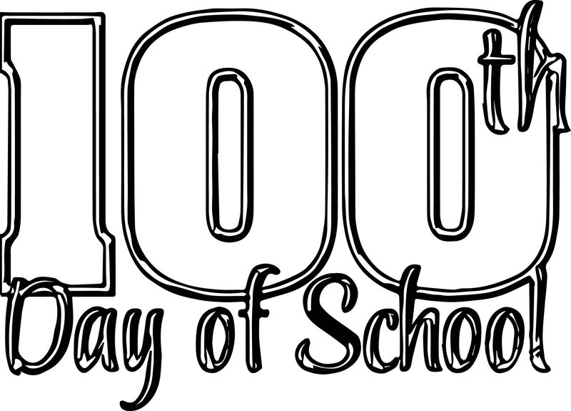 100 Day Of School Coloring Page