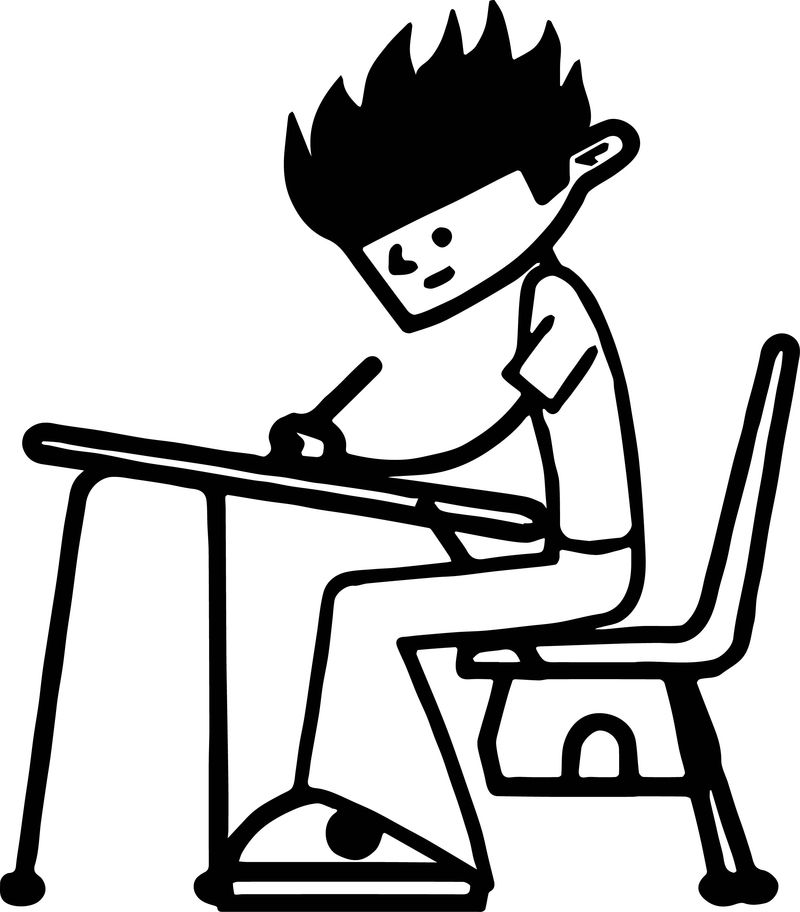 100 Days Of School Boy Coloring Page