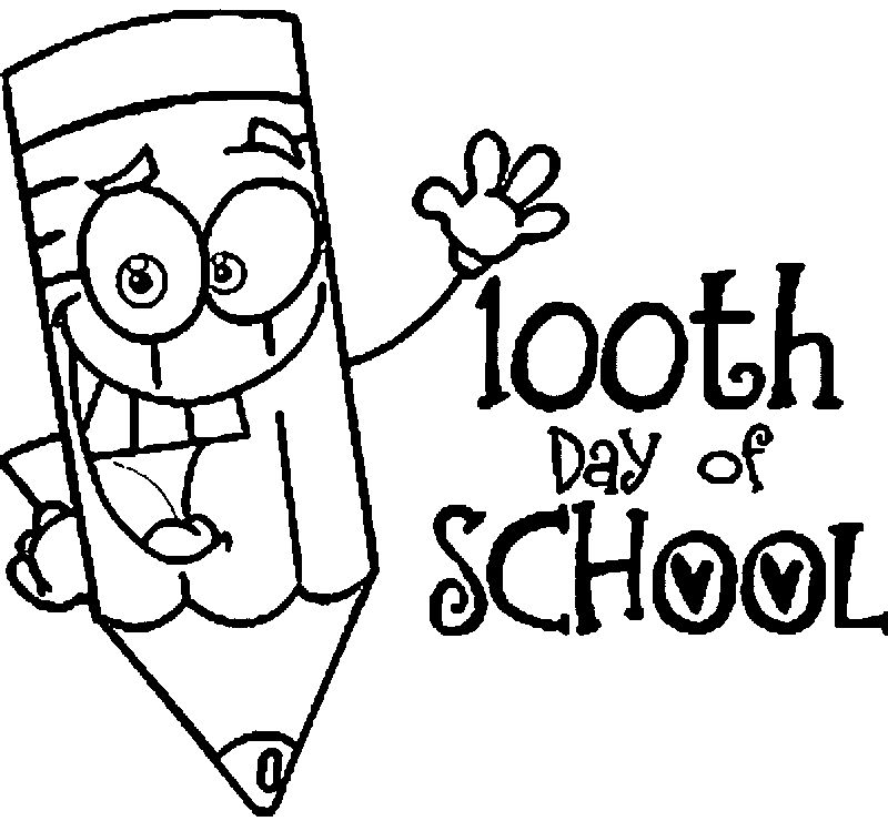 100 Days Of School Coloring Page 14