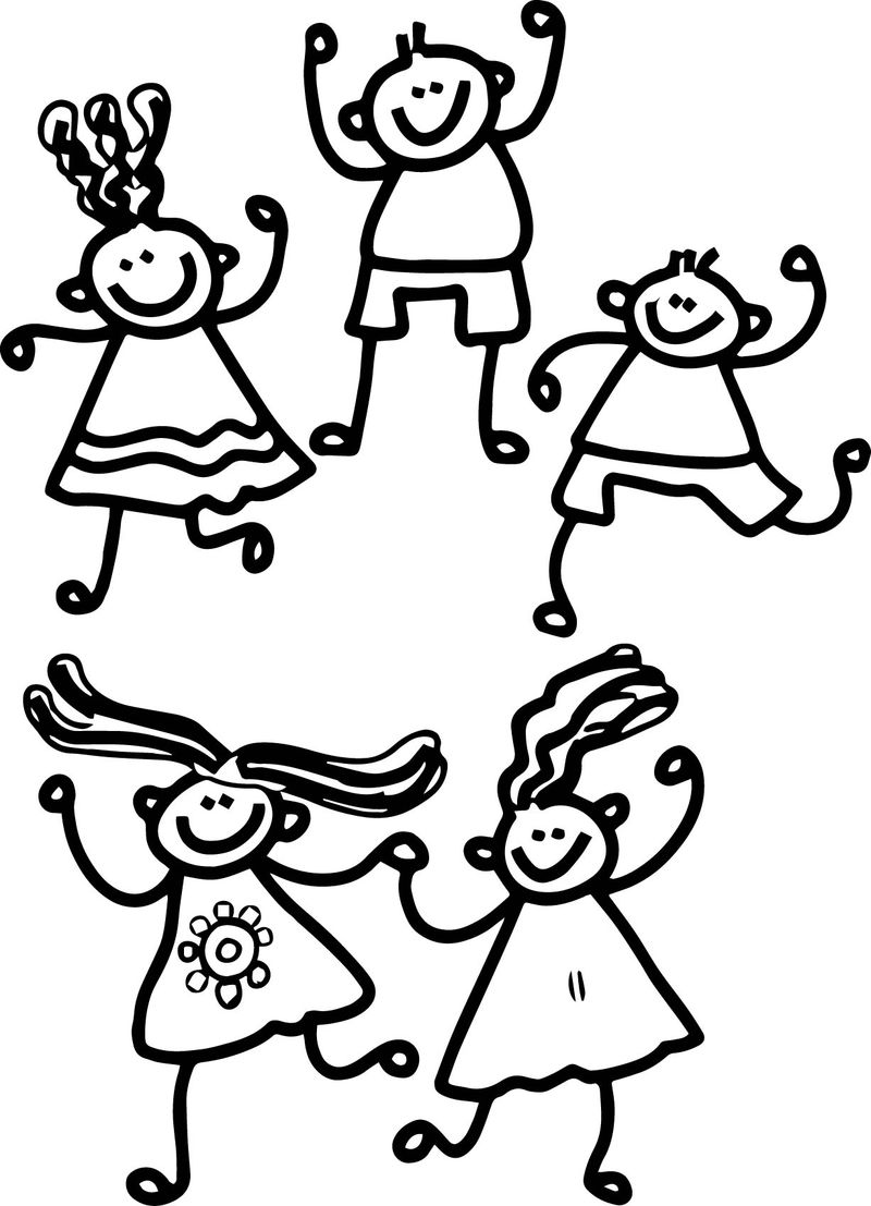 100 Days Of School Kids Plays Coloring Page
