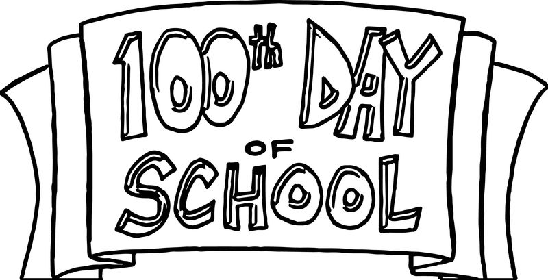100 Th Day Of School Coloring Page