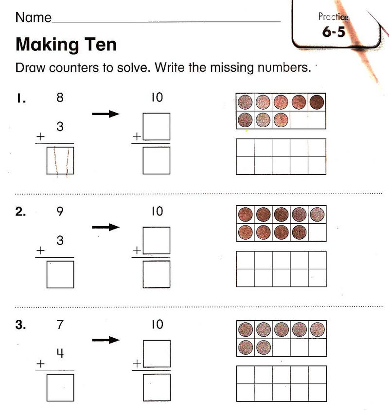 1st Grade Math Worksheets Homework 001