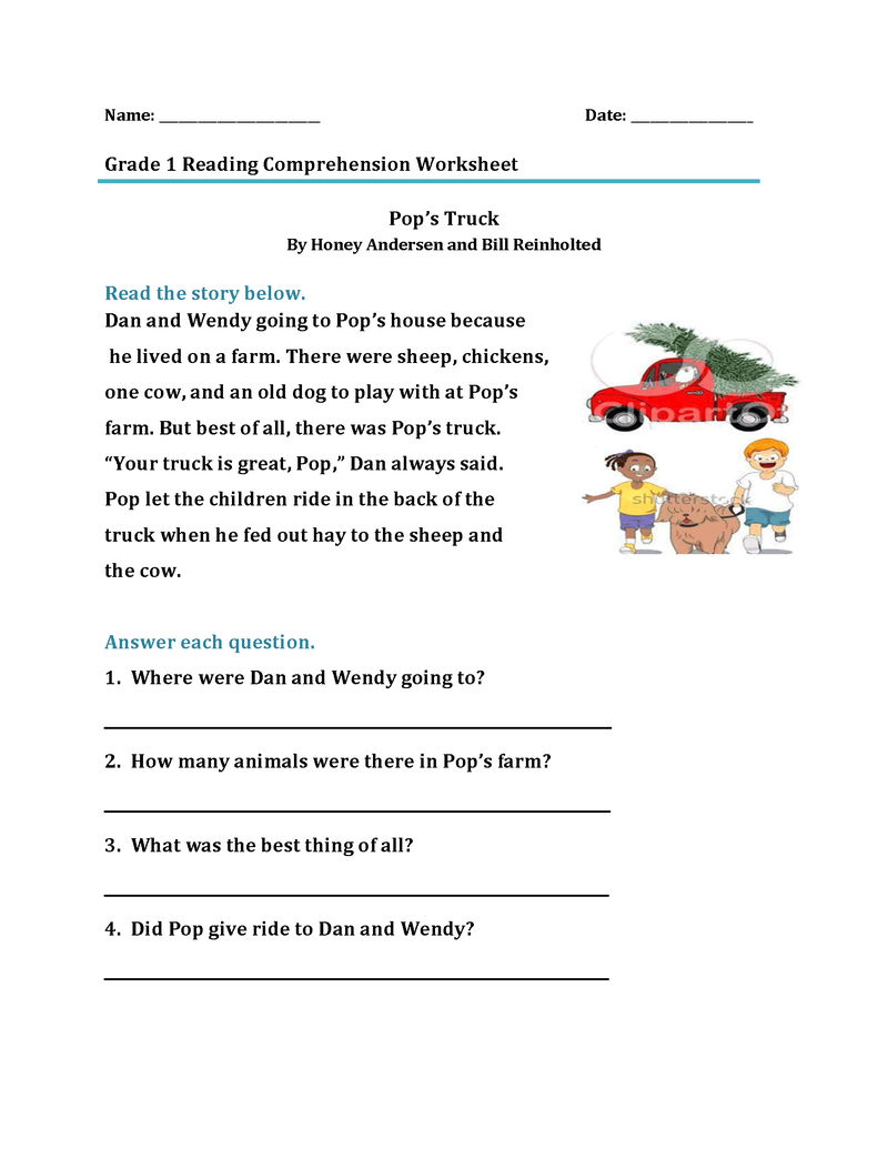 1st Grade Reading Worksheet