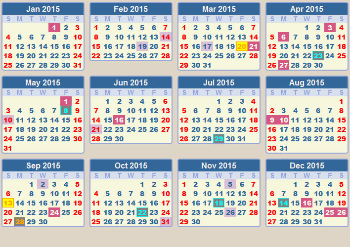 2015 Calendar For Your Personal Room 3 002