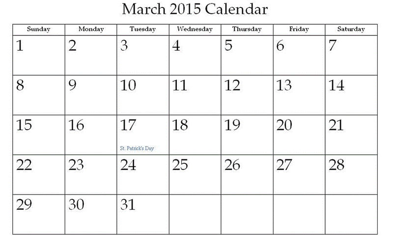 2015 Monthly Calendar Printable 3 001