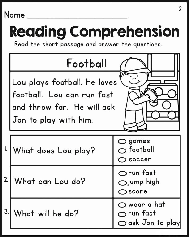 2nd Grade Reading Comprehension Worksheet 1