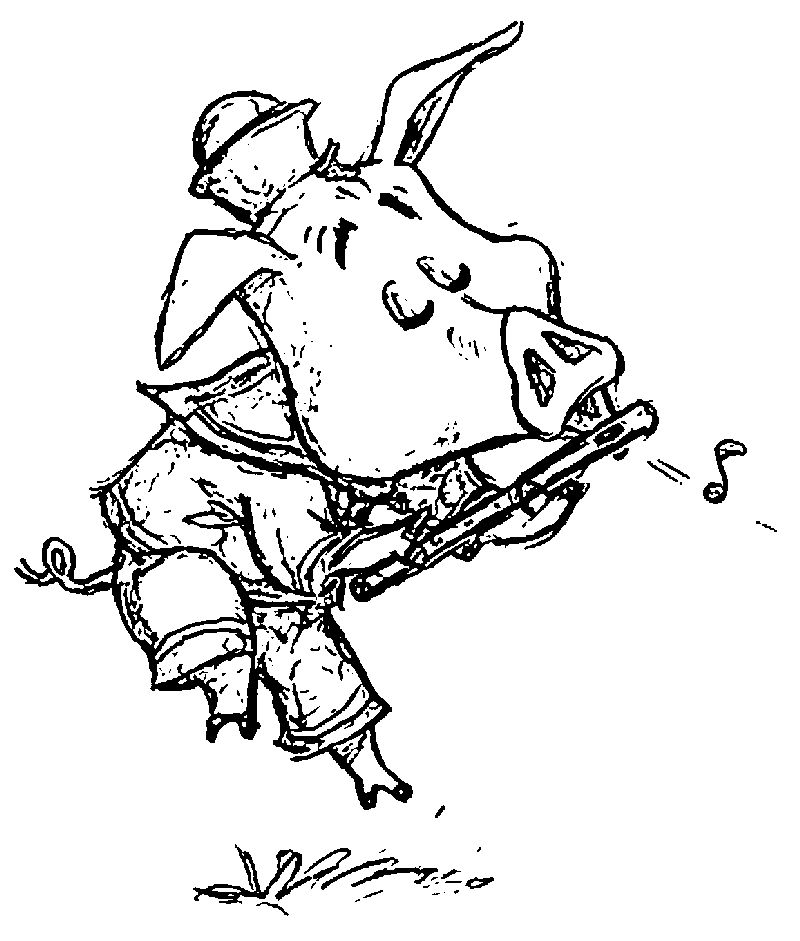 3 Little Pig Hodge Coloring Page