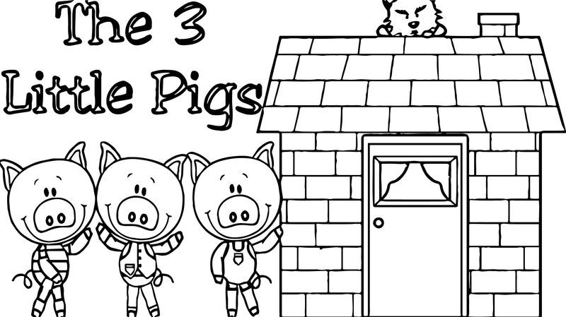 3 Little Pigs House Coloring Page