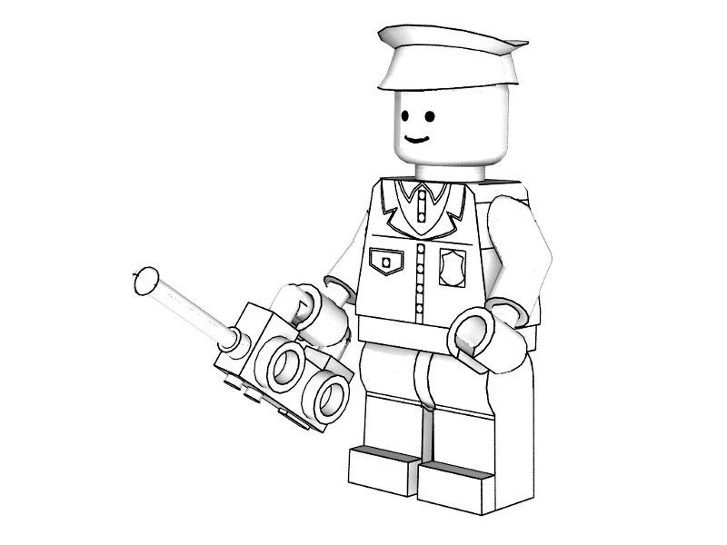 3d Lego Police Coloring Pages