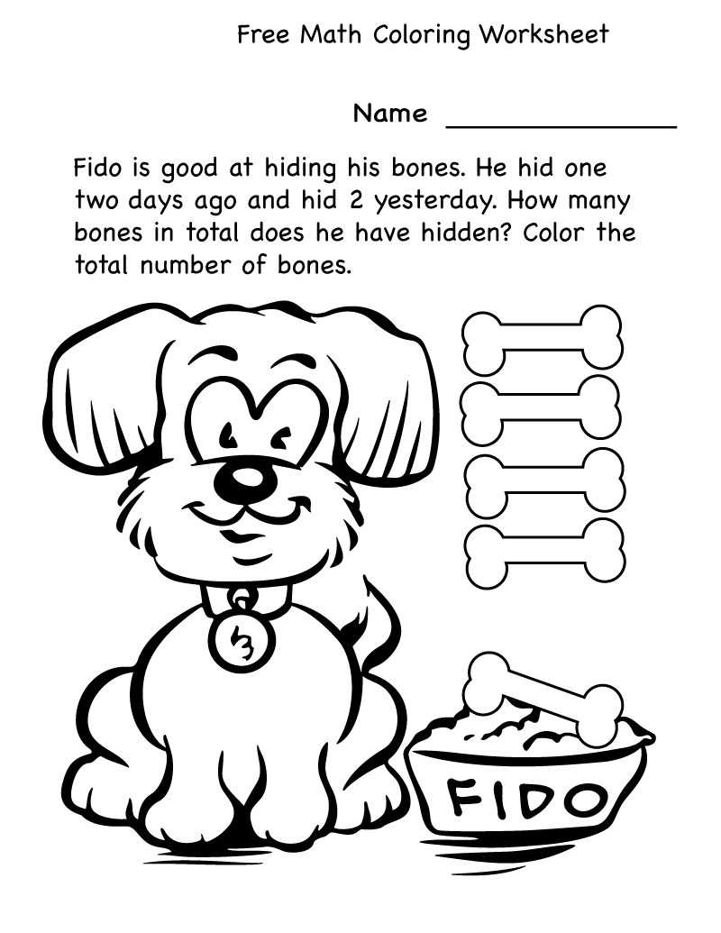 4 Year Old Worksheets Math Coloring