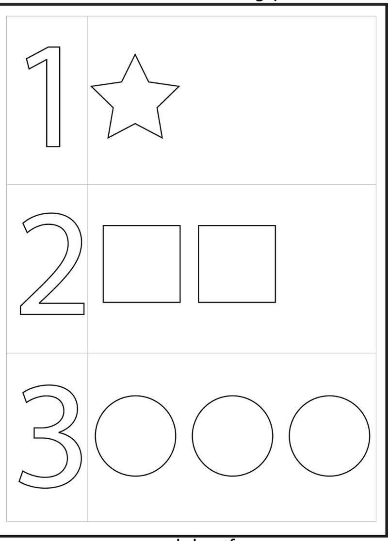 4 Year Old Worksheets Numbers To Color