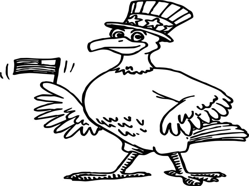 4th Of July Bird Eagle Coloring Page