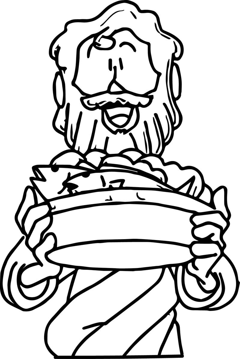 5 Loaves And 2 Fish Man Coloring Page