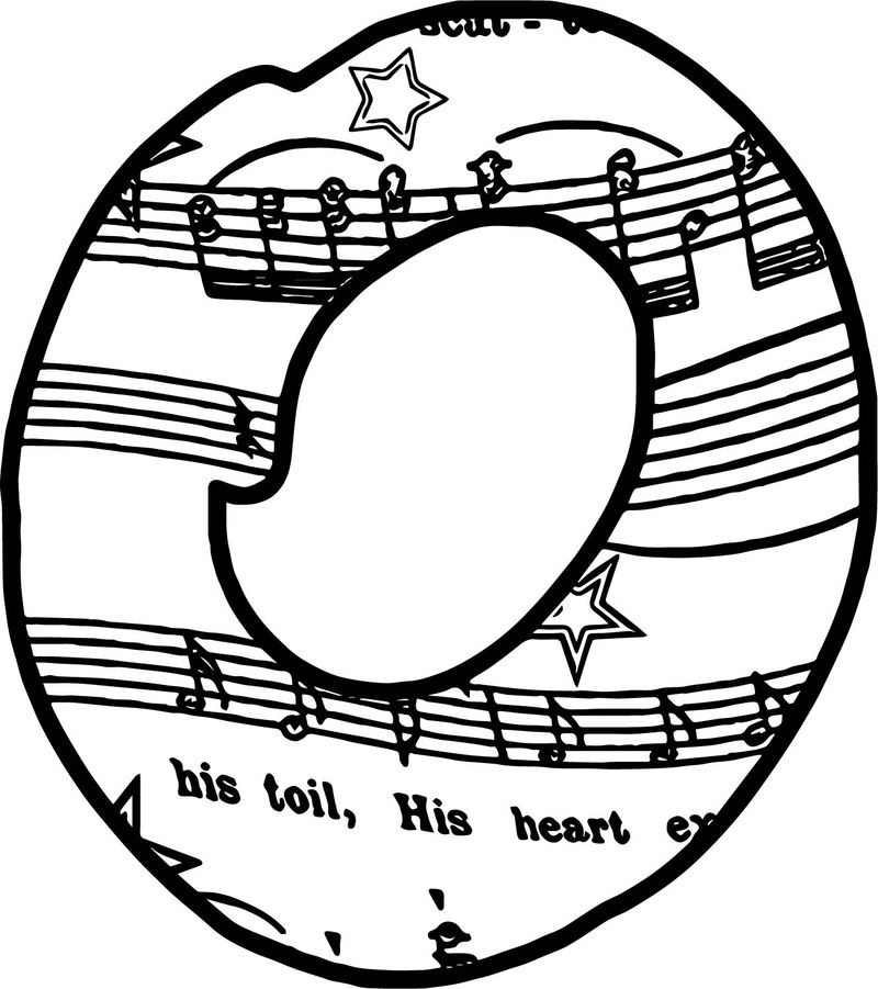 Abc 0 Music Note Coloring Page