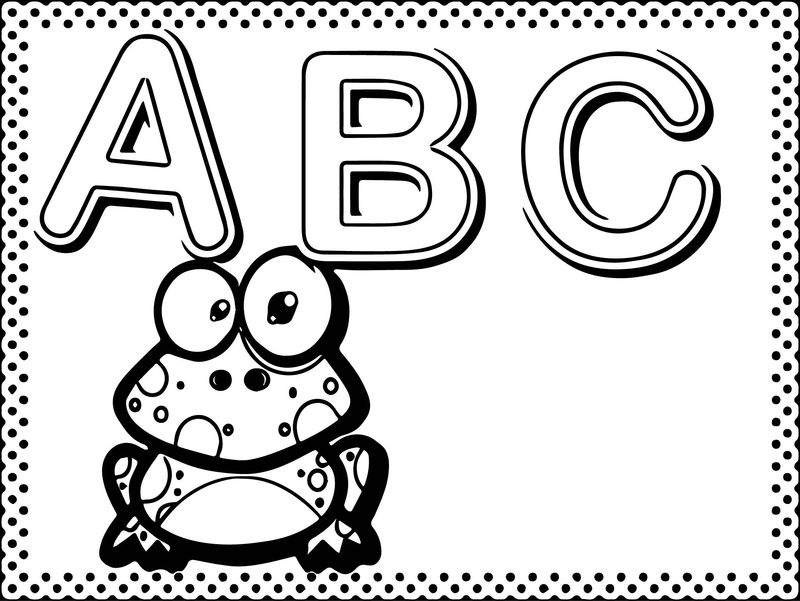 Abc Animal Coloring Page