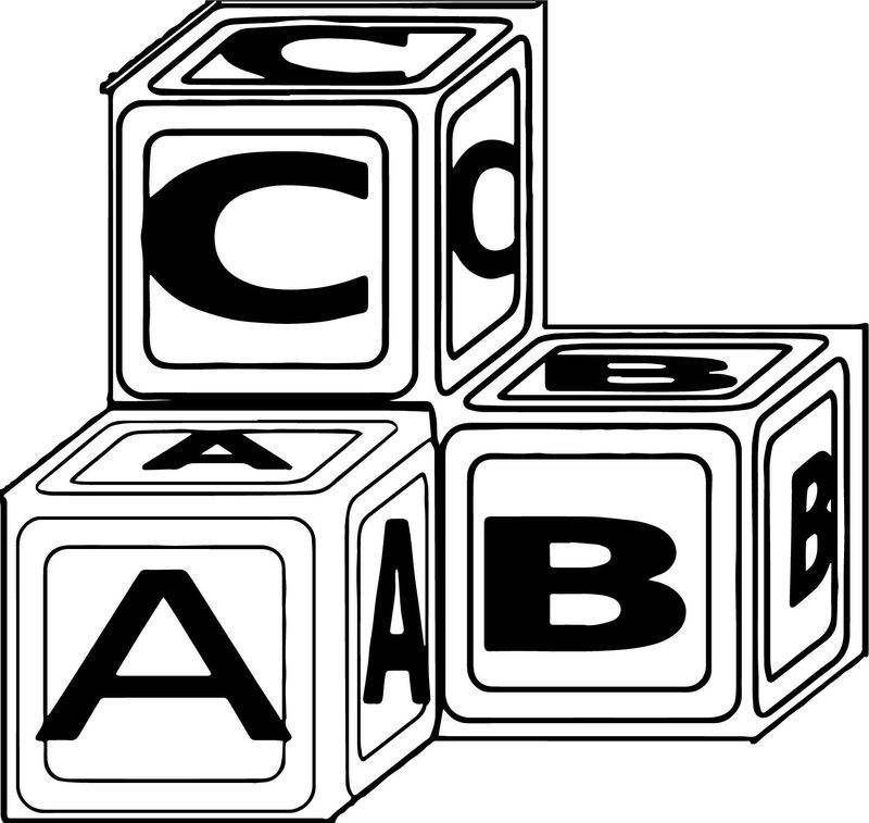 Abc Blocks Md Coloring Page