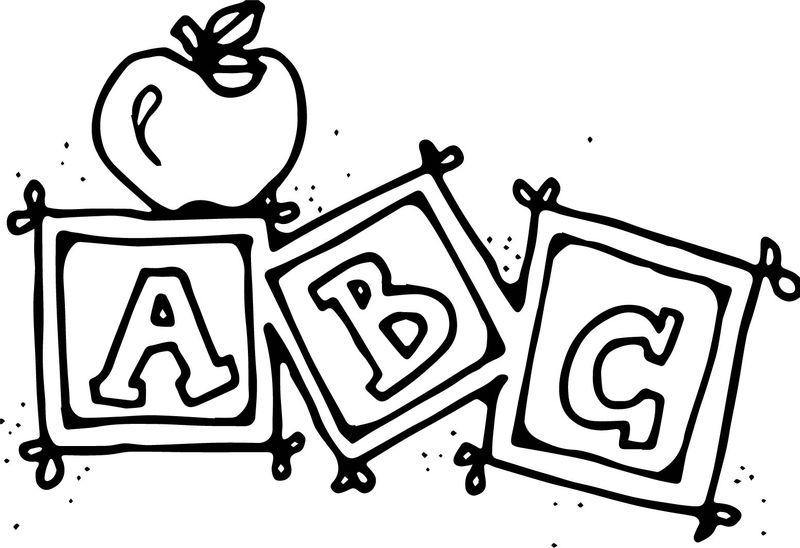 Abc School Coloring Page For Kindergarten