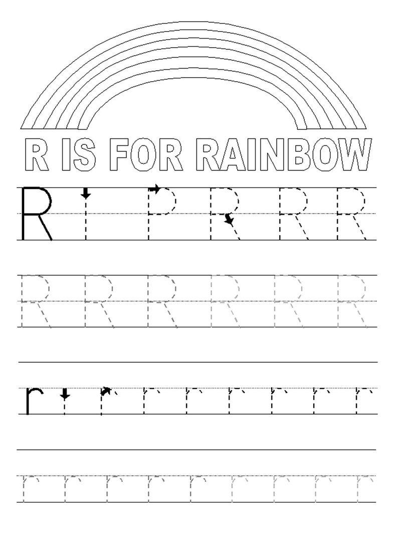 Abc Tracer Pages Letter R