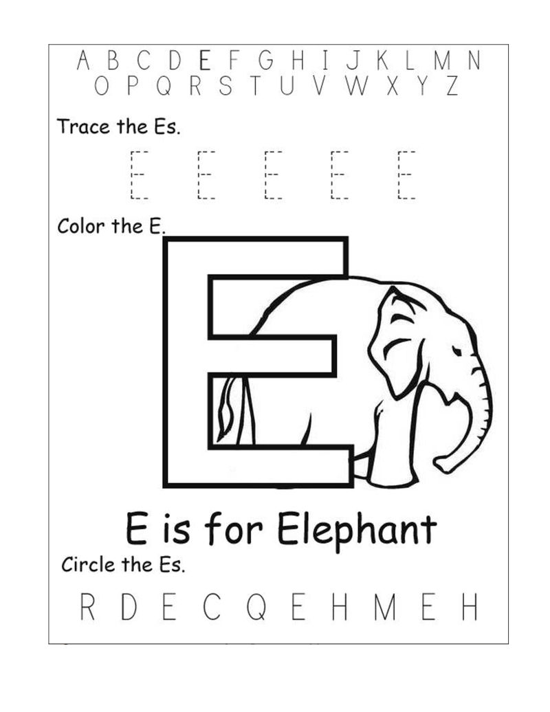 Abc Worksheets Free Letter E